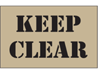 Keep clear heavy duty stencil