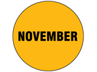 November inventory date label