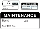 Maintenance write and seal labels.