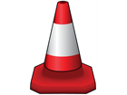 Parking or traffic control cone, 460mm high