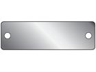 Blank aluminium nameplate, 19mm x 63mm