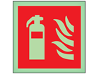 Fire extinguisher symbol photoluminescent safety sign