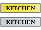 Kitchen public area sign