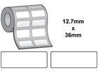 Thermal transfer labels, self adhesive polyester, 12.7mm x 36mm.