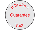 If broken guarantee void label