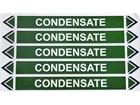 Condensate water flow marker label.