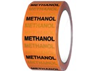 Methanol pipeline identification tape.
