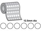 Thermal transfer labels, self adhesive paper, 12.5mm diameter.