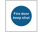 Fire door keep shut safety sign.