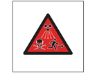 Radiation hazard public warning symbol safety sign.