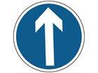 Ahead only sign