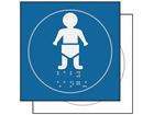 Baby changing room symbol sign.