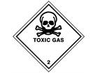 Toxic gas 2 hazard warning diamond sign