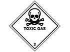 Toxic gas 2 hazard warning diamond sign