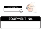 Equipment number label