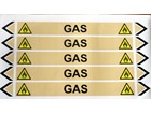 Gas flow marker label.
