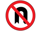 No U-turns sign