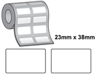 Tamper evident labels, 23mm x 38mm