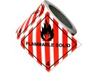 Flammable solid, class 4, hazard diamond label