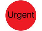 Urgent packaging label