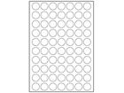 White polyester laser labels, 24mm diameter