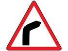 Bend to the right sign