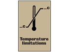 Temperature limitations stencil