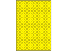 Yellow polyester laser labels, 15mm diameter