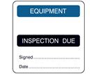 Equipment, inspection due combination label.