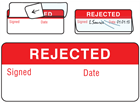 Rejected write and seal labels.