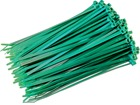 Plain nylon cable ties, green