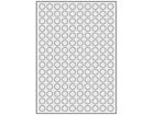 Silver polyester laser labels, 15mm diameter