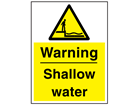 Warning shallow water sign.