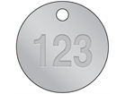 Embossed Tinplate Tags, 51mm diameter
