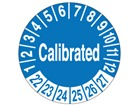 Calibrated month and year label