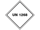UN 1268 (Petroleum distillates - petroleum ethers) label.