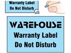 Coloured destructible labels, 16mm x 25mm
