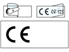CE symbol write and seal labels.