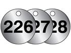 Aluminium valve tags, numbered 226-250