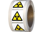 Warning radiation hazard symbol label.