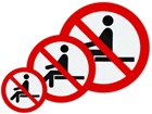 Do not sit on symbol label