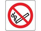 No smoking symbol label.