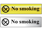 No smoking metal doorplate