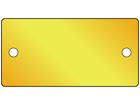 Blank brass nameplate, 38mm x 77mm
