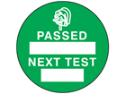Passed next test label.