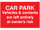 Vehicle and contents sign