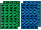 Multipurpose letter set, 19mm x 14mm