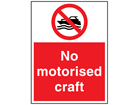 No motorised craft sign.