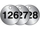 Aluminium valve tags, numbered 126-150