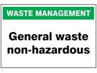 General waste non-hazardous sign.